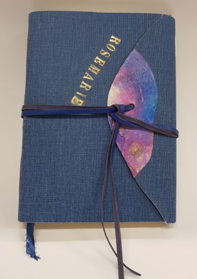 Bookcloth journal open at 1280