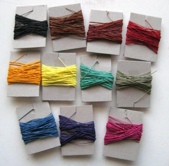 4 ply waxed sewing thresds