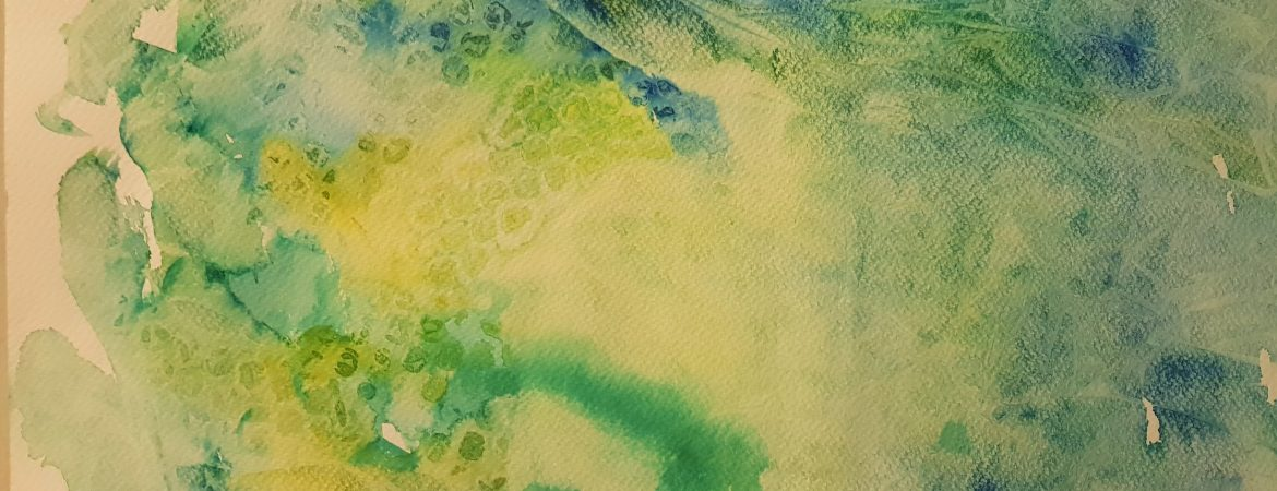 Textured background on watercolour sheet